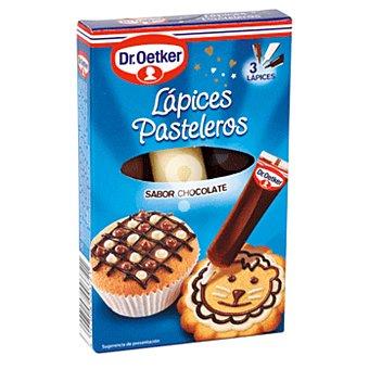 Lápices pasteleros sabor chocolate