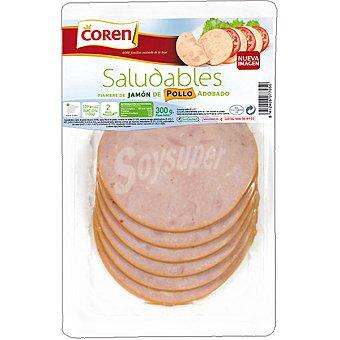 Coren Saludables jamón de pollo adobado Blister 300 g