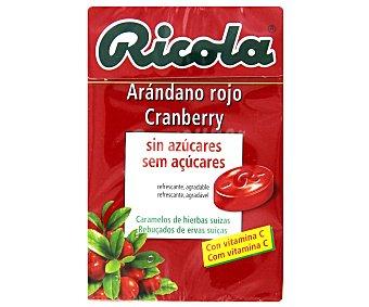 Ricola Caramelos de hierbas suizas sin azúcares con sabor a arándano rojo Caja 50 g