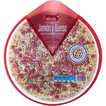 Aliada Pizza fresca de jamón y queso Envase 415 g