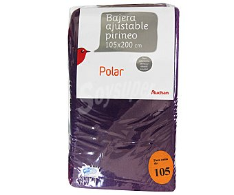 AUCHAN Sábana bajera serie Pirineo, 130 gramos/m², color morado, 105 centímetros 1 Unidad