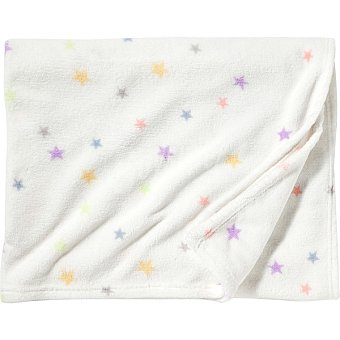 DOMBI Plaid Coralina con estampado de estrellas multicolores