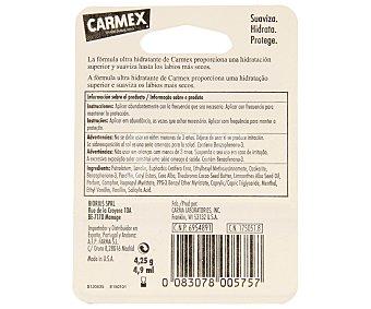 CARMEX Protector labial ultra hidratante con sabor a vainilla 12 gramos