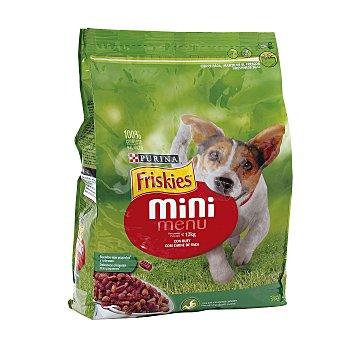 Purina Friskies Pienso para perro adulto mini en croquetas con buey Bolsa 3 kg