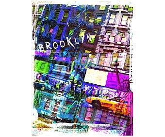 IMAGINE Cuadro con imágenes representativa del barrio de Booklyn y dimensiones de 60x80 centímetros 1 unidad