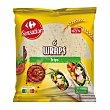 Wraps tortillas de trigo Carrefour sin aceite de palma 6 ud Sensation