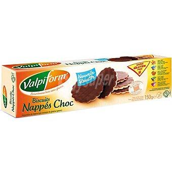 Valpiform galletas bañadas en chocolate negro sin gluten envase 150 g