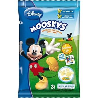 DISNEY Mooskys Snack de maíz horneado sabor a queso sin gluten Bolsa 75 g