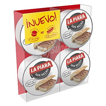 La Piara Paté tapa negra Pack de 4 unidades de 46 g