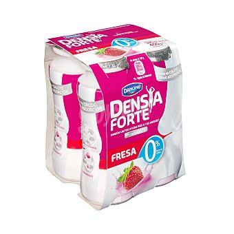 Densia Danone Yogur líquido desnatado, con sabro a fresa y que ayuda a el control de la densidad ósea forte 0% 4 x 100 g