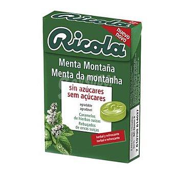 Ricola Caramelo Menta Montaña sin azúcares Caja de 50 g
