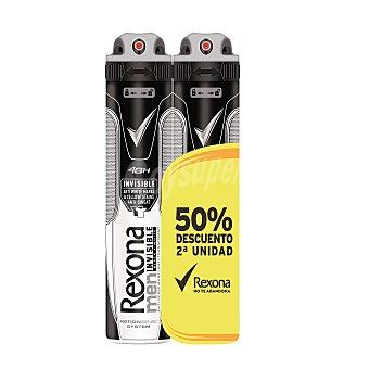 Rexona Men desodorante invisible black&white 2 sprays de 200 ml