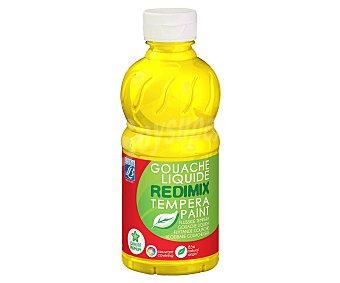 Redimix Botella de 250 mililitros de témpera de color amarillo REDIMIX 250ml