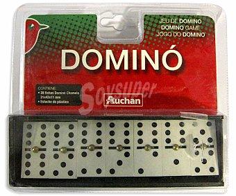 Auchan Juego de mesa dominó con estuche de plástico, de 2 a 5 jugadores 1 unidad