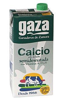 GAZA Leche semidesnatada con calcio Envase 1 L