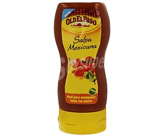 Old el Paso Salsa mexicana suave bocabajo Envase 295 g