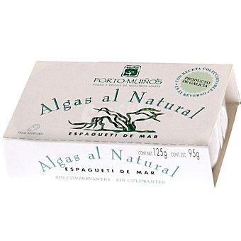 Porto Muiños Algas al natural espagueti de mar Lata 85 g neto escurrido