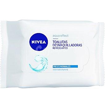 NIVEA Aqua Effect Toallitas desmaquilladoras refrescantes piel normal bolsa 7 unidades Bolsa 7 unidades