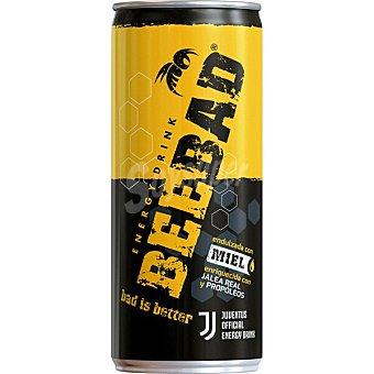 BEEBAD Bebida energética endulzada con miel, enriquecida con jalea real y própolis Lata 25 cl