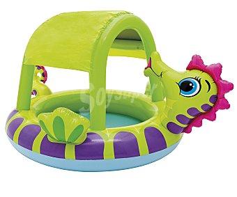 INTEX Piscina hinchable infantil con forma de caballito de mar toldo protector del sol, 188x147x104 centímetros, recomendada para niños de + 1 año 1 unidad