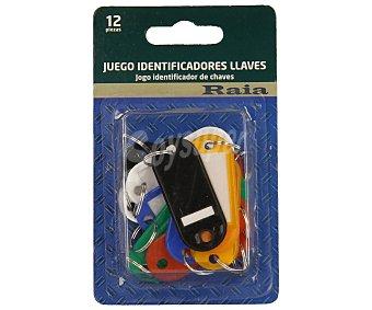 RAIA Lote con 12 identificadores de llaves de diferentes colores 1 unidad