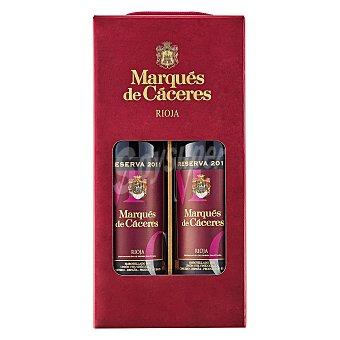 Marqués de Cáceres Vino tinto reserva D.O. Rioja Estuche 2 botellas 75 cl