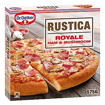 Rustica Dr. Oetker Pizza con jamón y champiñones  Estuche 575 g