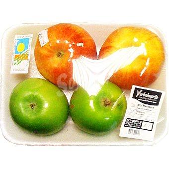 Manzanas variadas ecológicas  Bandeja 600 g peso aproximado