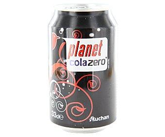 Auchan Refresco de cola zero Lata de 33 centilitros