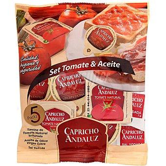 Capricho Andaluz Set de 5 monodosis aceite oliva virgen extra envase 10 ml 5 monodosis
