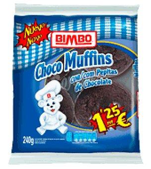 Bimbo Choco Muffins con pepitas de chocolate 4 ud