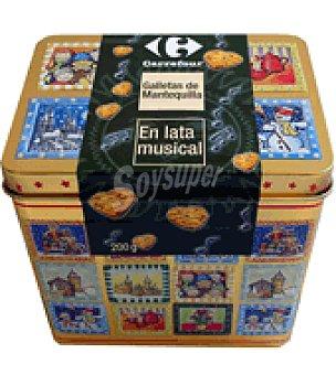 Carrefour Lata musical con galletas en forma de corazón 200 g
