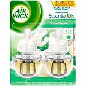 Air Wick Ambientador eléctrico White 10% airwick, recambio 2 unid. 2 unid