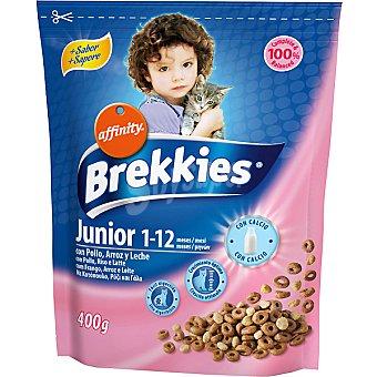 AFFINITY BREKKIES EXCEL SPECIAL Junior Para gatos de 1 a 12 meses con pollo y leche bolsa 400 g Bolsa 400 g