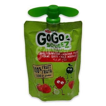 Gogo Squeez Preparado de manzana y fresa 100% fruta con plátano y grosella negra Envase 90 g
