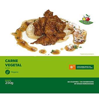 VEGESAN Carne vegetal de soja sin colesterol congelado vegano Envase 250 g