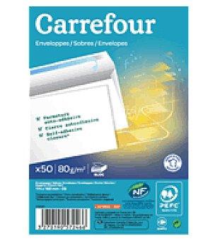 Carrefour Block de sobres autoadhesivos 114X162MM 80 grs. 50 unidades