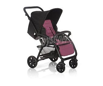 Baby nurse Coche de paseo trío, chasis de aluminio, color burdeos y negro, trek babynurse