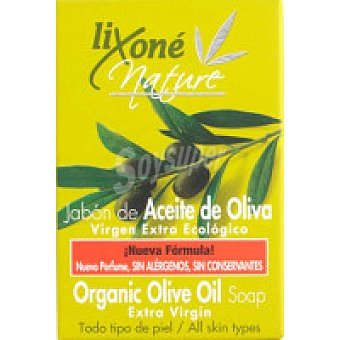 LIXONE Nature Jabón de manos de oliva ecológico Pastilla 125 g