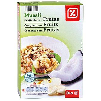 DIA Cereales muesli crujiente con frutas paquete 500 gr Paquete 500 gr