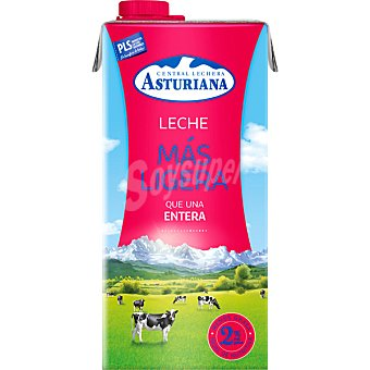 Central Lechera Asturiana Leche entera Más Ligera 2% Materia Grasa Envase 1 l