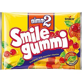 NIMM2 smile gummi Caramelos de goma con zumo de frutas y vitaminas sabor frutas diversas Bolsa 100 g