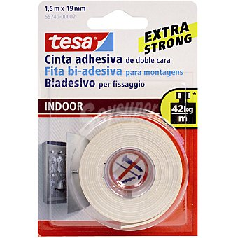 Tesa 55740 cinta adhesiva doble cara extra strong 15 m x 19 mm