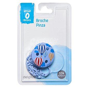 Deliplus Broche pinza chupete azul 1 unidad