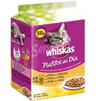 Whiskas Platitos carne blanca 6 UNI