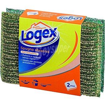 Logex estropajo esponja abrasiva oro y plata  envase 2 unidades