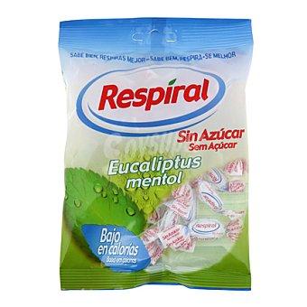 Respiral Caramelo mentolado con edulcorantes con sabor a eucalipto 110 g