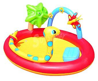 BESTWAY Piscina hinchable infantil con motivos de animales, modelo serpiente, con medidas de 192x150x88 centímetros, capacidad de 1990.6 litros y recomendada para niños de + 3 años 1 unidad