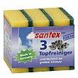 Estropajo con esponja Topfreiniger Paquete 3 unidades Santex