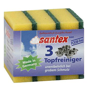 Santex Estropajo con esponja Topfreiniger Paquete 3 unidades